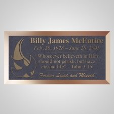 Holy Spirit Bronze Plaque