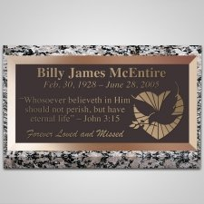 Loving Dove Bronze Plaque
