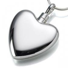 Large Heart Cremation Pendant