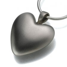 White Bronze Heart Keepsake Pendant