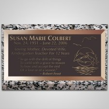 Deep Blue Sea Bronze Plaque