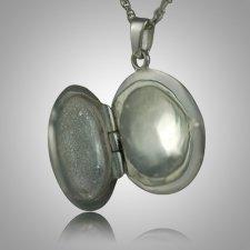 Etched Round Locket Keepsake Jewelry III