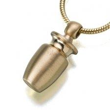 Urn Vessel Cylinder Cremation Pendant II