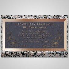 Flowers Bronze Plaque