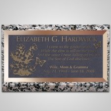 Secluded Flowers Bronze Plaque