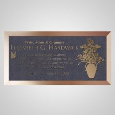 Flower Vase Bronze Plaque