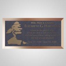Bonsai Tree Bronze Plaque