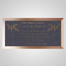 Twigs Bronze Plaque