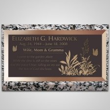 Plants Bronze Plaque