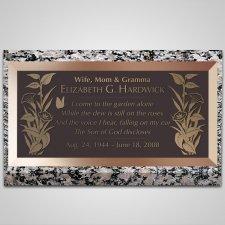 Lake Flowers Bronze Plaque