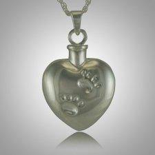 Pet Heart Paw Print Cremation Jewelry
