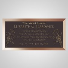 Floral Bronze Plaque