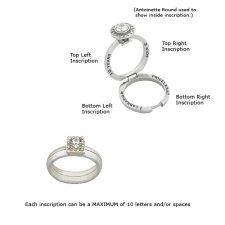 Antoinette Square Inscription Ring