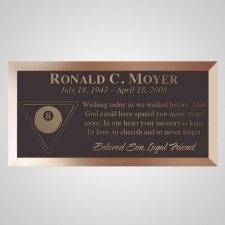 Eightball Bronze Plaque
