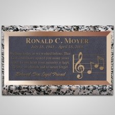 Music Notes Bronze Plaque