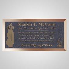 Golf Clubs Bronze Plaque