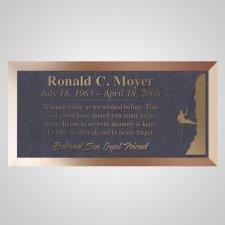 Climber Bronze Plaque