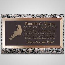 Mountain Climber Bronze Plaque