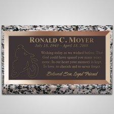 Rider Bronze Plaque