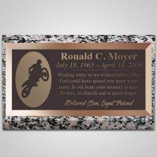 Bike Jump Bronze Plaque