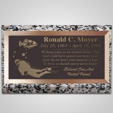 Scuba Diver Bronze Plaque