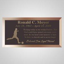 Soccer Bronze Plaque