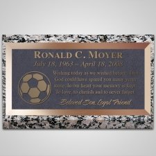Soccer Ball Bronze Plaque