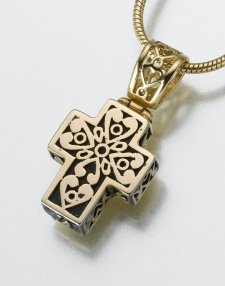Filigree Cross Pet Memorial Jewelry II