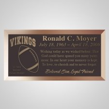 Football Fan Bronze Plaque