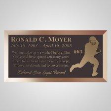 Touchdown Bronze Plaque