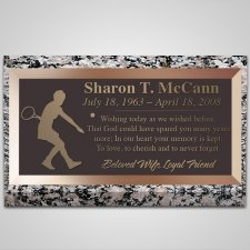 Tennis Player Bronze Plaque