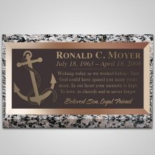 Anchor Bronze Plaque