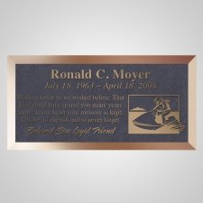 Jet Ski Bronze Plaque