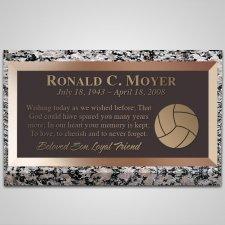 Volleyball Bronze Plaque