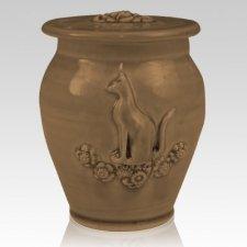 Kitty Moss Black Ceramic Cremation Urn