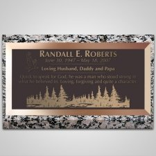 Pine Forest Bronze Plaque
