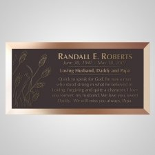 Wheat Strands Bronze Plaque