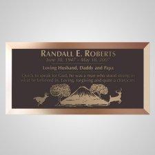 Running Deer Bronze Plaque
