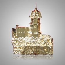 Cliffside Lighthouse Bright Gold Medallion Appliques