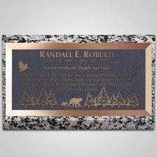 Bears Bronze Plaque