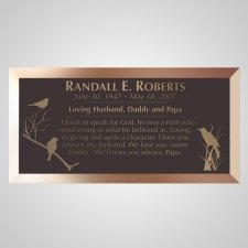 Meadow Bronze Plaque