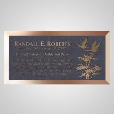 Flying South Bronze Plaque