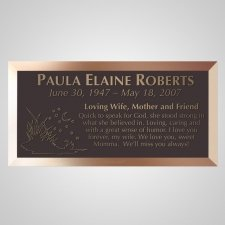 Night Life Bronze Plaque