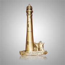 Coastal Lighthouse Bright Gold Medallion Appliques