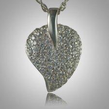 Indented Stone Heart Keepsake Pendant