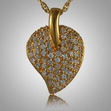 Indented Stone Heart Keepsake Pendant IV