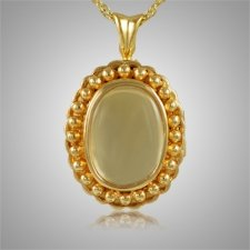 Oval Glass Locket Cremation Pendant II