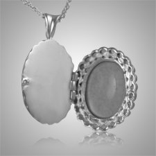 Oval Glass Locket Cremation Pendant