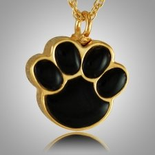 Pet Paw Onyx Cremation Keepsake II