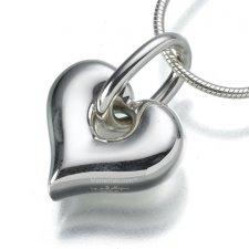 Loop Heart Keepsake Pendant III